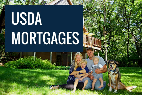 Family in their home they purchased with a USDA mortgage