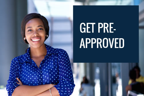 Home buyer getting pre-approved for a mortgage